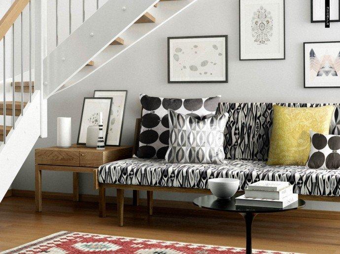 Не смотря на то, что, прежде всего рисунок зебра используется при оформлении дома в африканском стиле, она прекрасно будет смотреться и в черно-белом интерьере в стиле хай-тек.