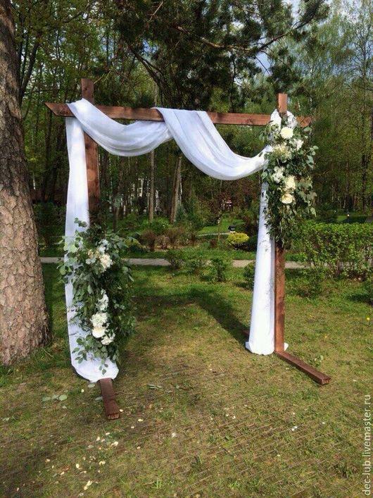 деревянная свадебная арка фото