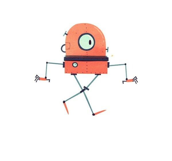 Роботы анимация картинка прозрачная, ночи леночке