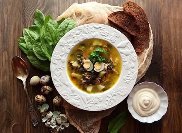 Пошаговый рецепт щавелевого супа
