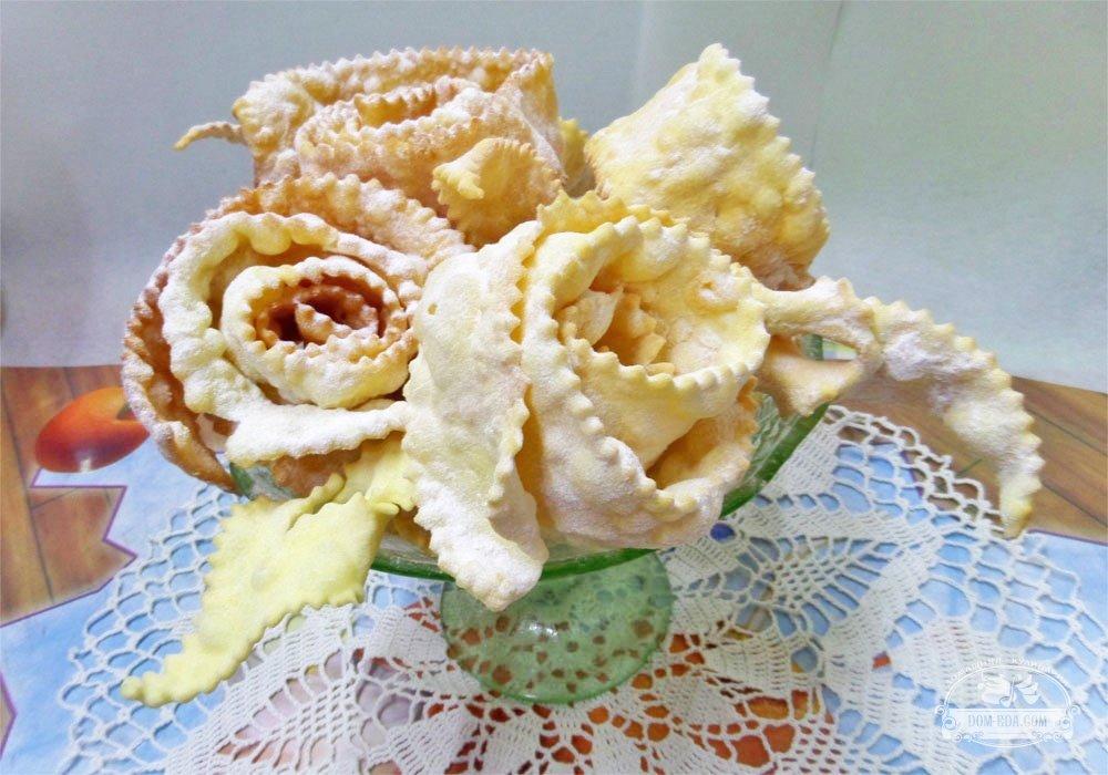 уточни хворост в виде цветка рецепты с фото возбуждении