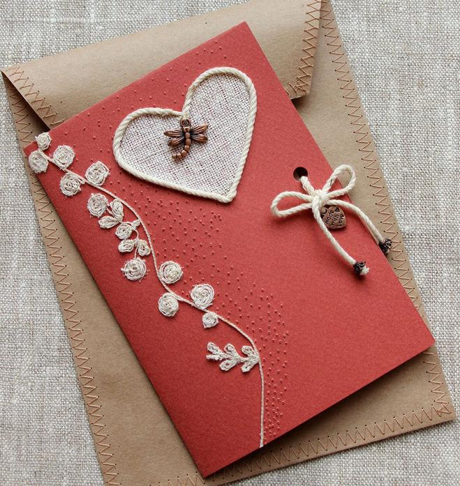 Скрапбукинг открытки с днем всех влюбленных