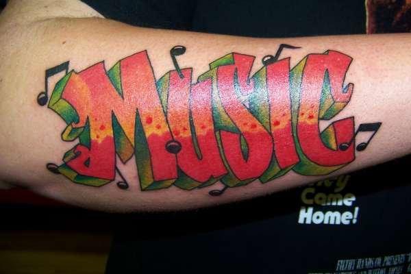 Graffiti Tattoo Designs For Men Music Design Ideas On Sleeve Font