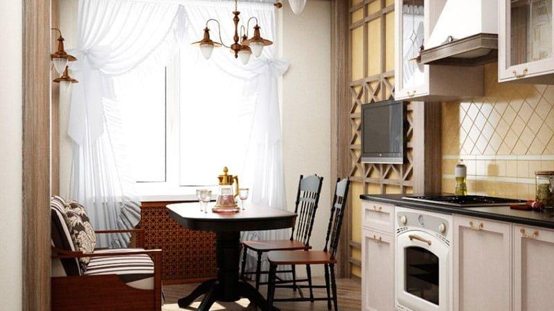 """Дизайн интерьера - обеденная зона на балконе."""" - карточка по."""