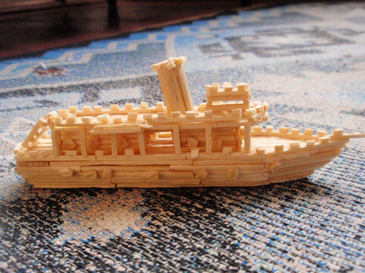 Картинки кораблей из спичек