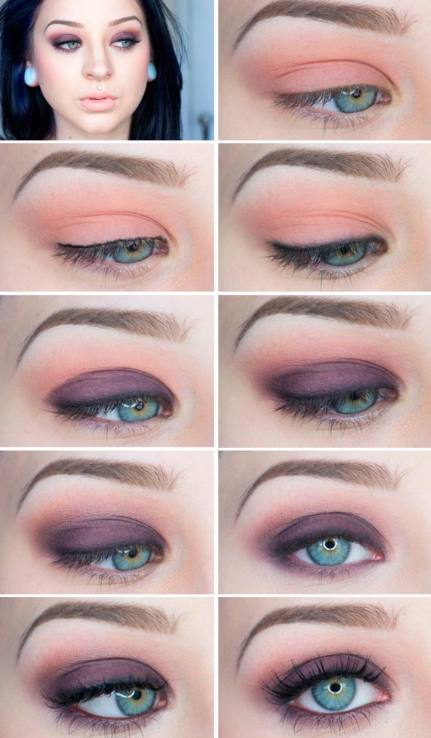 макияж глаз пошаговое фото с описанием