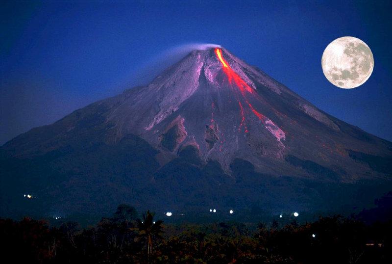 Картинки по запросу вулкан Мерапи
