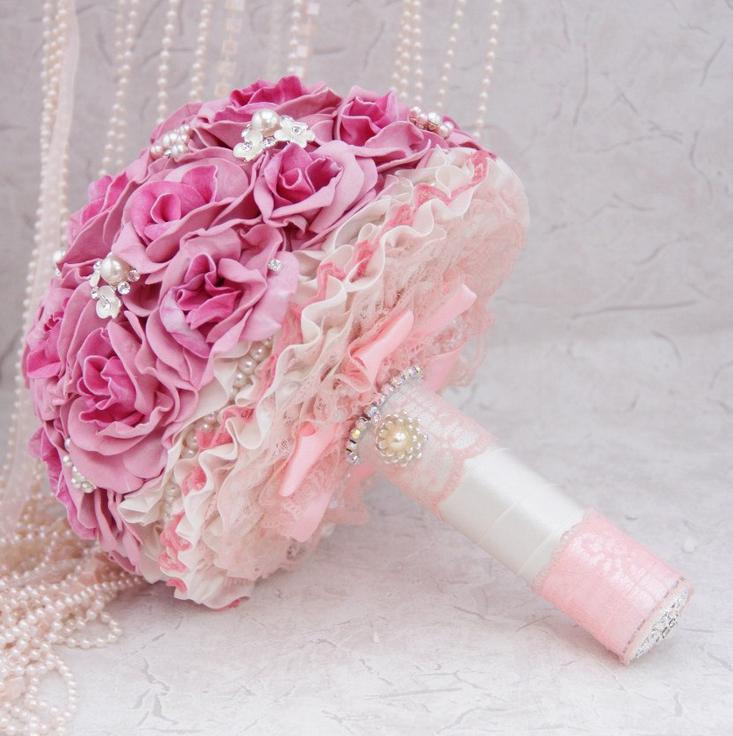 Как собрать свадебный букет из искусственных цветов