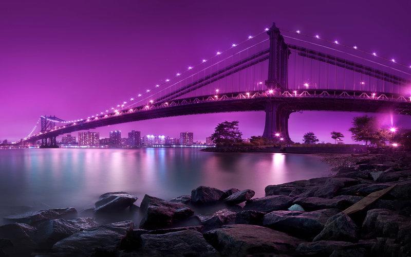 Манхэттенский мост Нью-Йорка, размер: 2560x1600 пикселей
