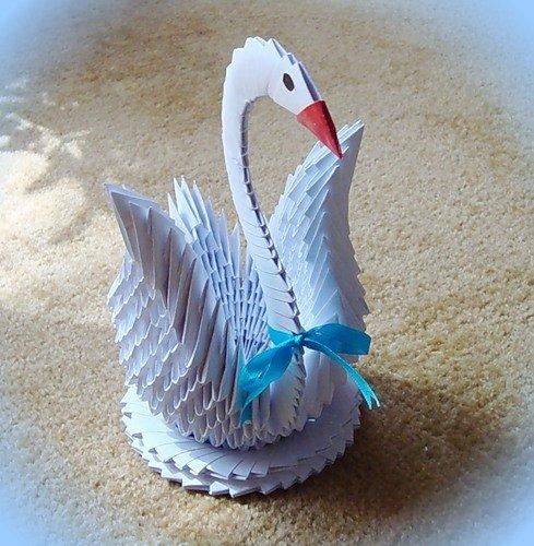 Открытки как сделать лебедь из
