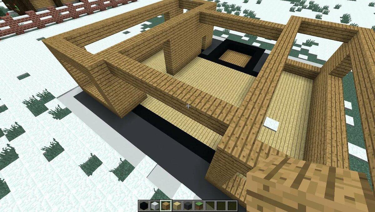 майнкрафт строить домики ними требует