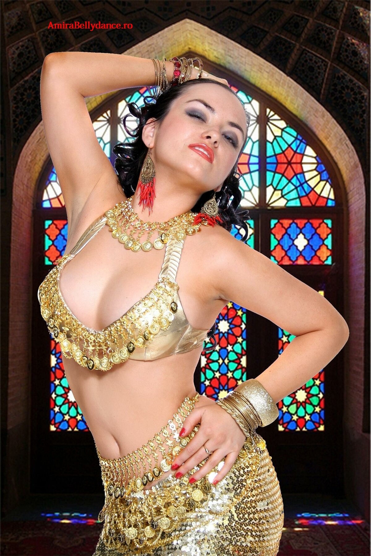 Belly dancer breasts