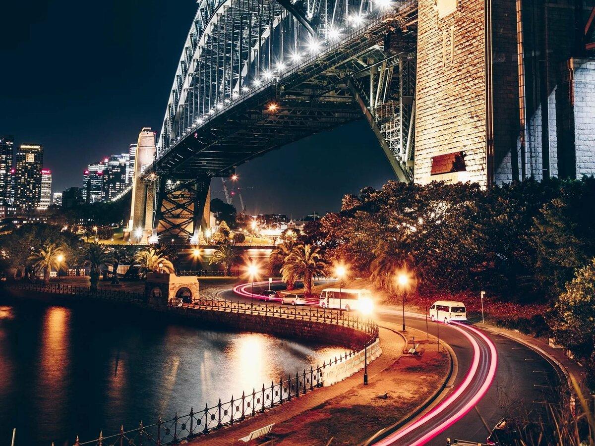 Картинки обои ночной город