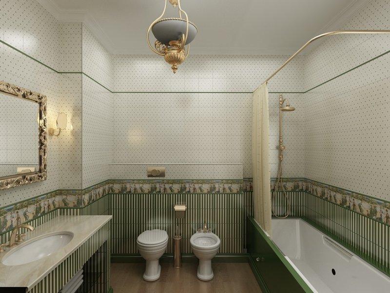 Современный стиль оформления ванной