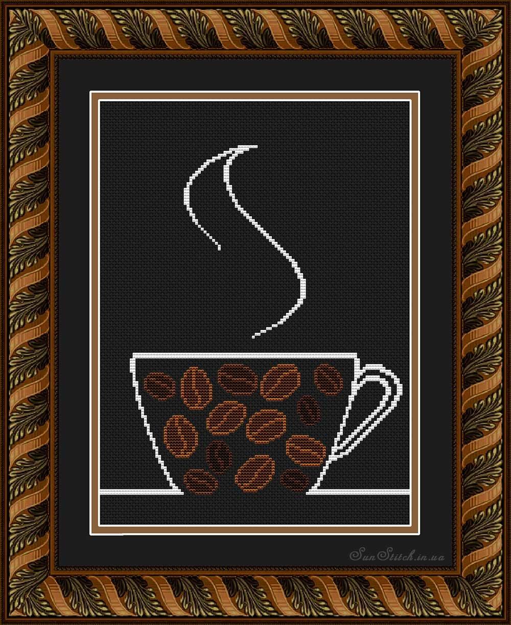 Картинки со стразами своими руками на кухню кофейная чашка