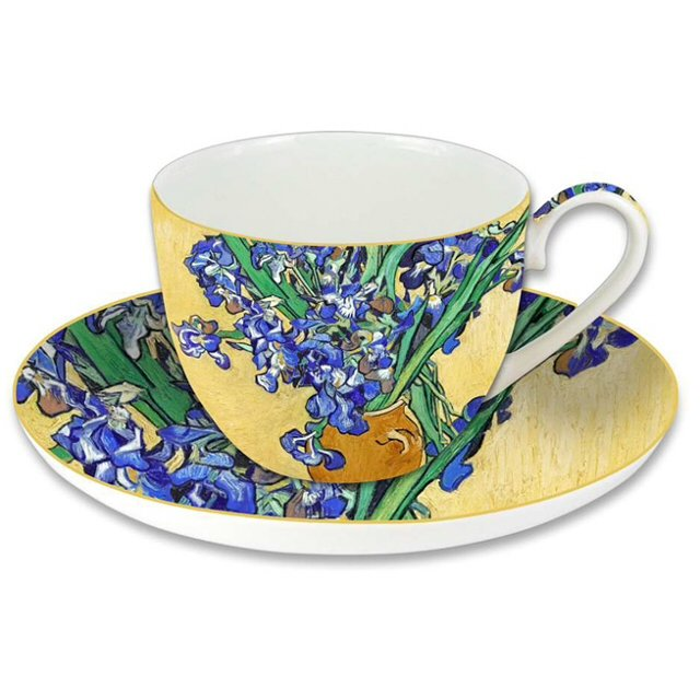 Чашка с блюдцем CARMANI Ирисы Ван Гог 280мл.