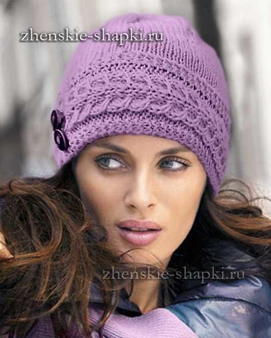 Модные вязаные шапки зима своими руками со схемами фото 909