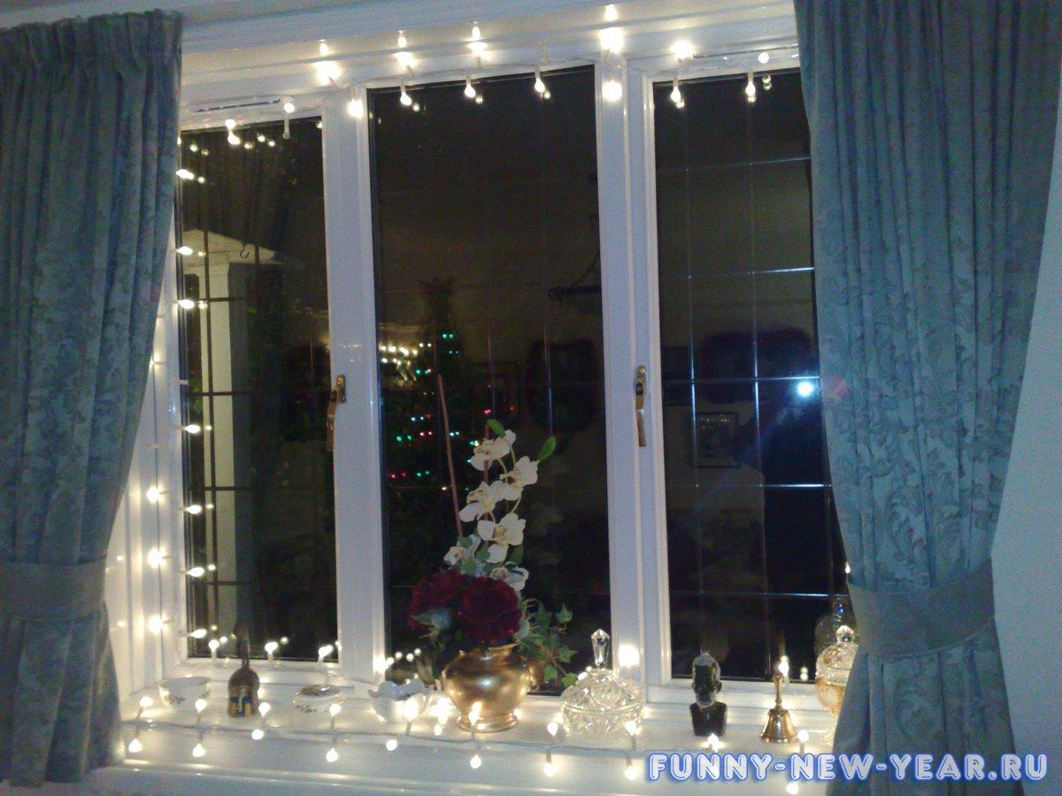 Новогоднее украшение окон своими руками фото фото 957