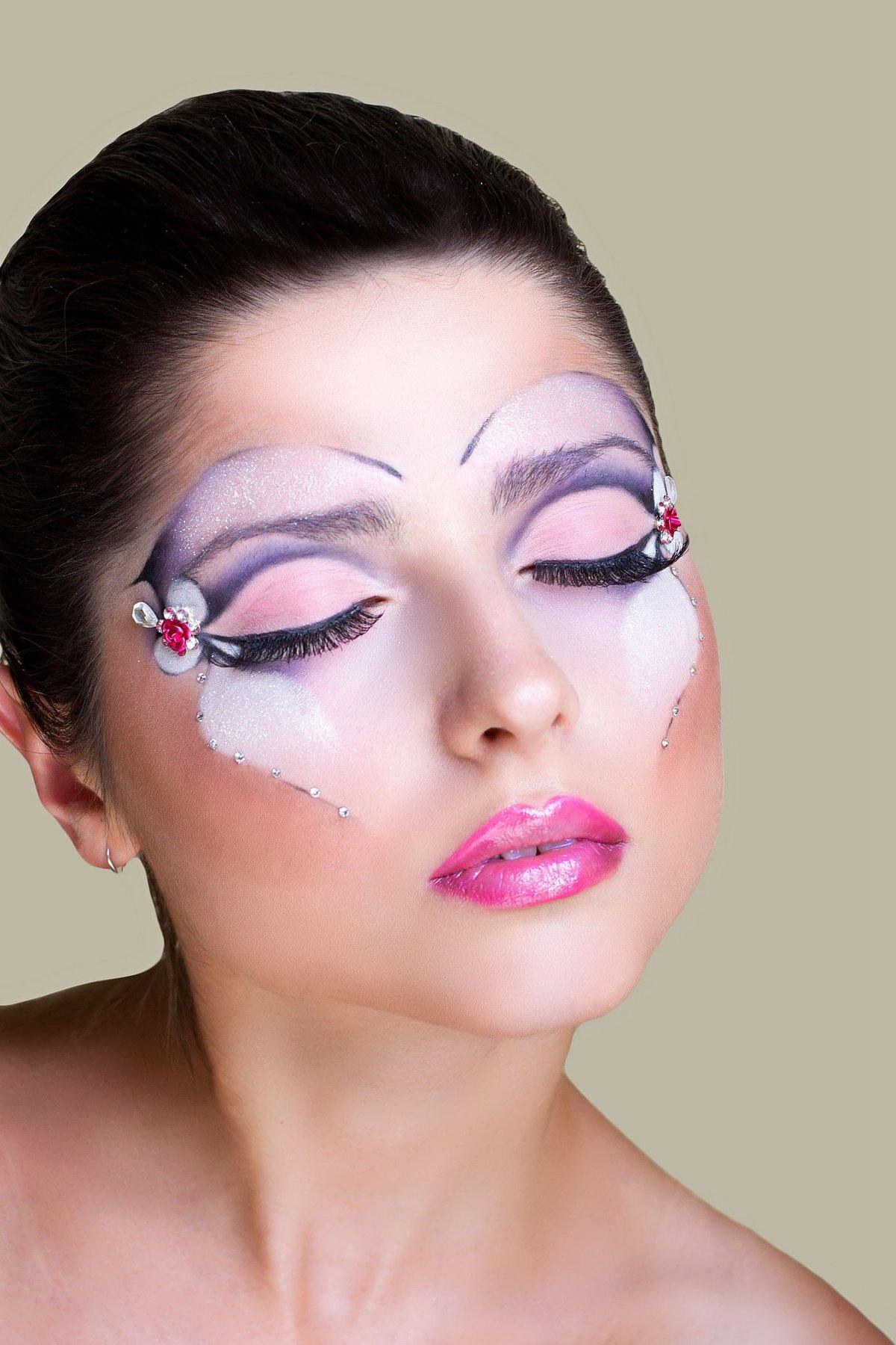 фантазийный макияж фото пошагово люстры для низких