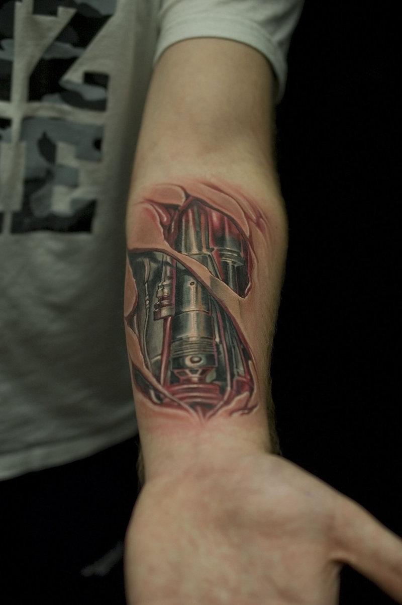 Татуировки фото предплечье биомеханика