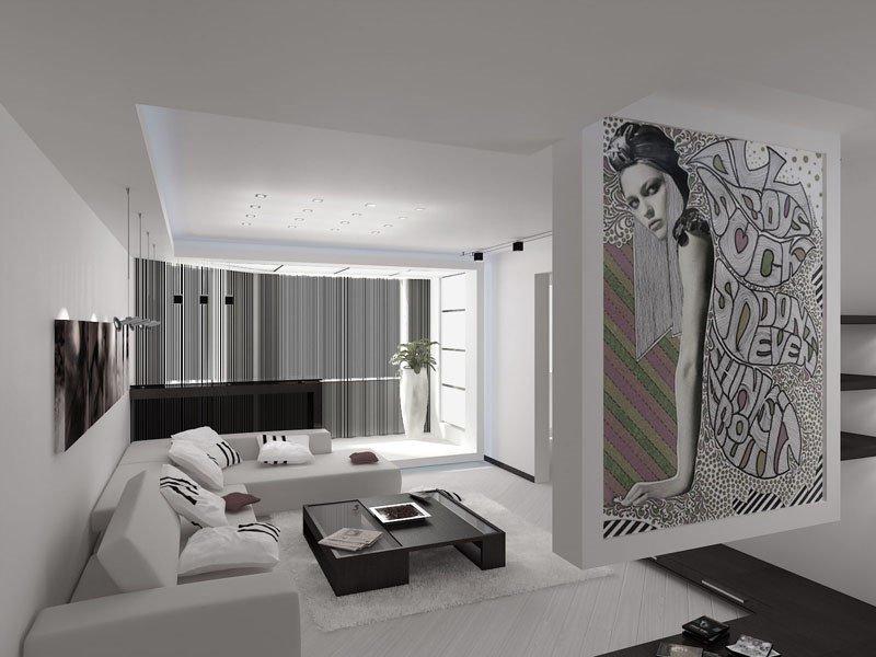 Гостиная в стиле минимализма