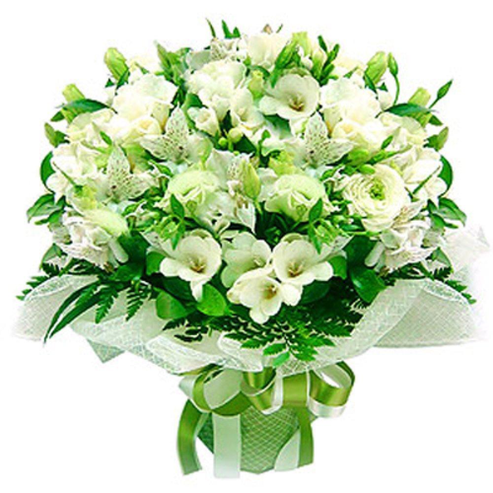 Белорусской дешево, букеты из белых цветов на юбилей