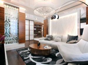Галерея дизайна интерьеров комнат – жилых и других помещений в квартирах, домах и офисах.