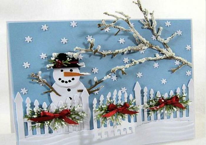 Днем рождения, поделки зимние открытки