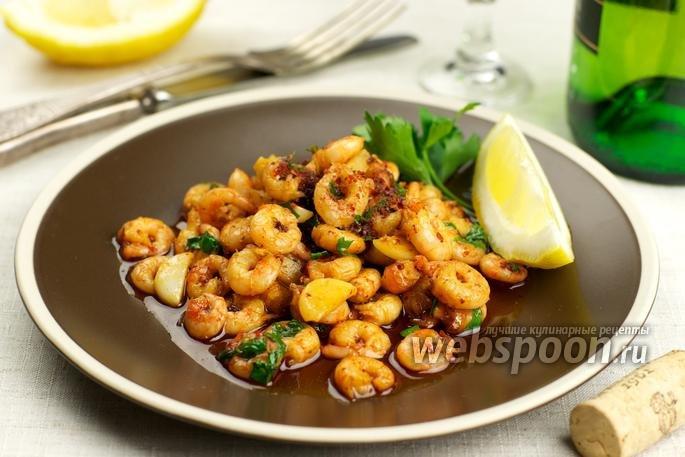 креветки жареные с чесноком рецепт с фото