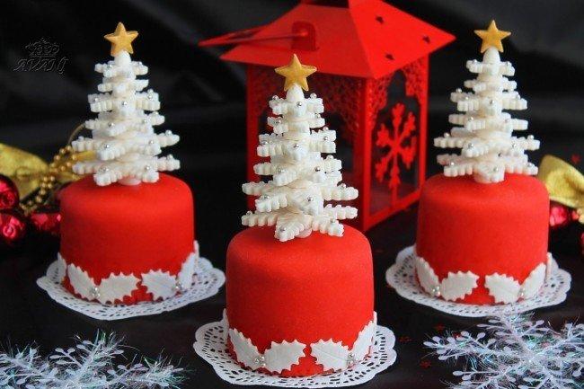 Новогодние торти с фото
