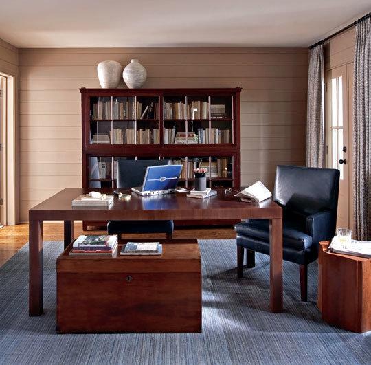 Интерьер элитного кабинета в доме или квартире