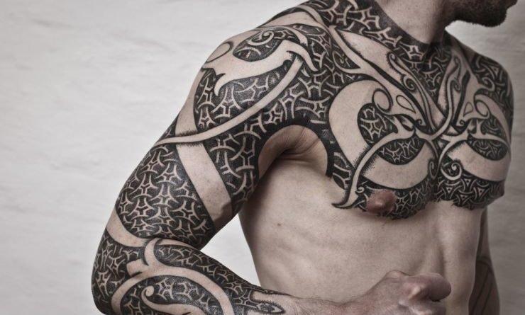 Татуировки руны с орнаментом