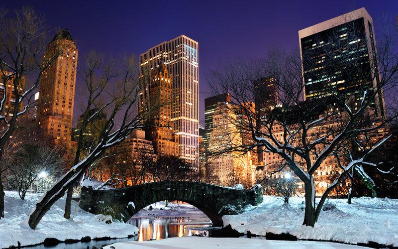Нью-Йорк, город, центральный парк,