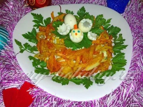 Праздничные салат гнездо глухаря фото