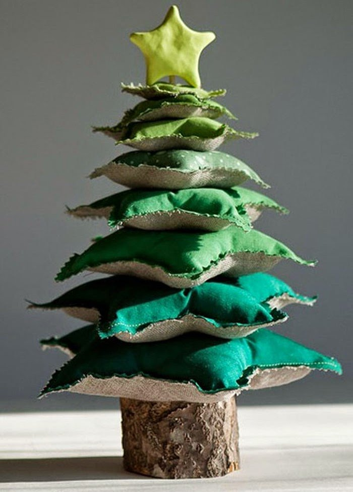 елка из лоскутков