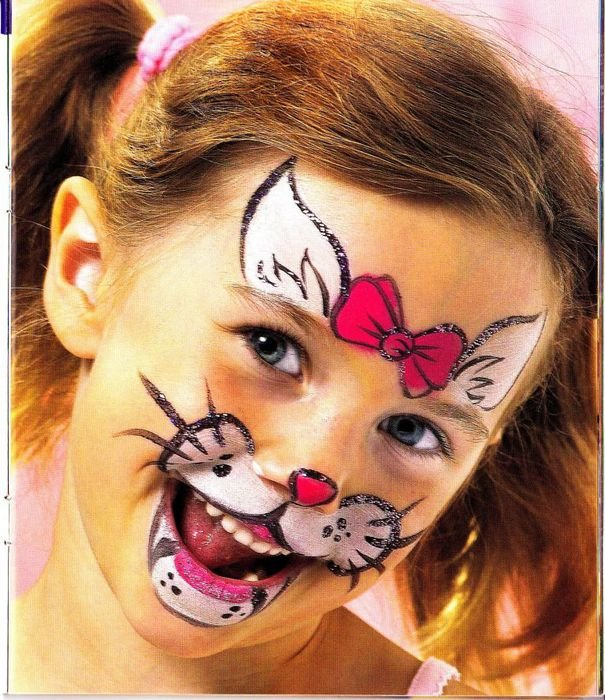 Картинки аквагрима котенка