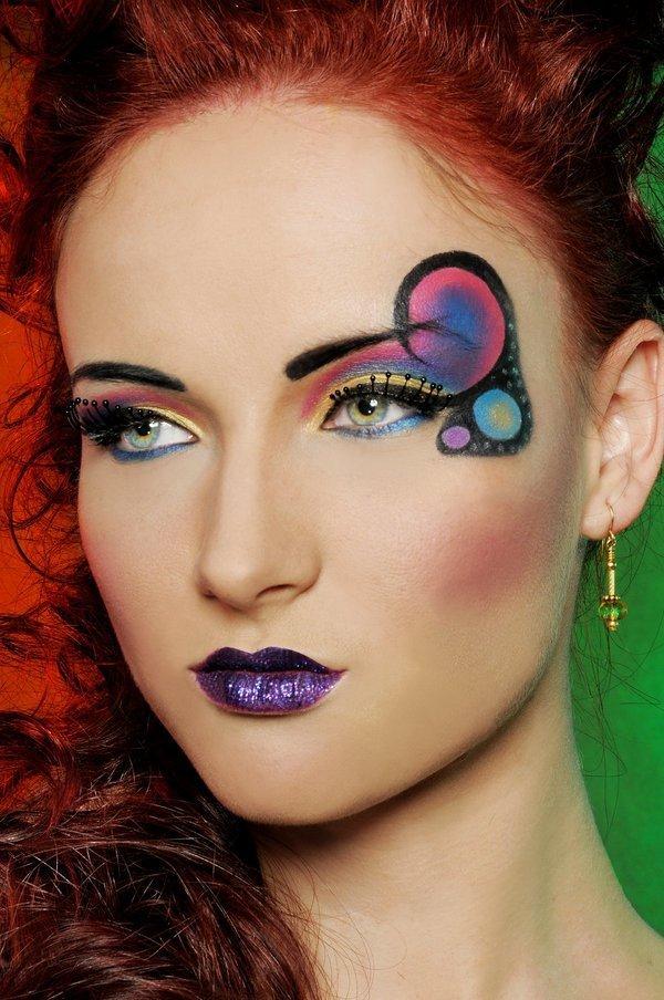 Макияж с фиолетовыми губами