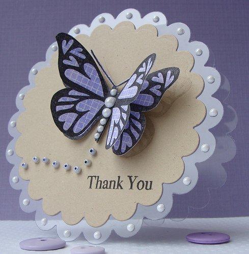 Открытка с цветами и бабочками своими руками