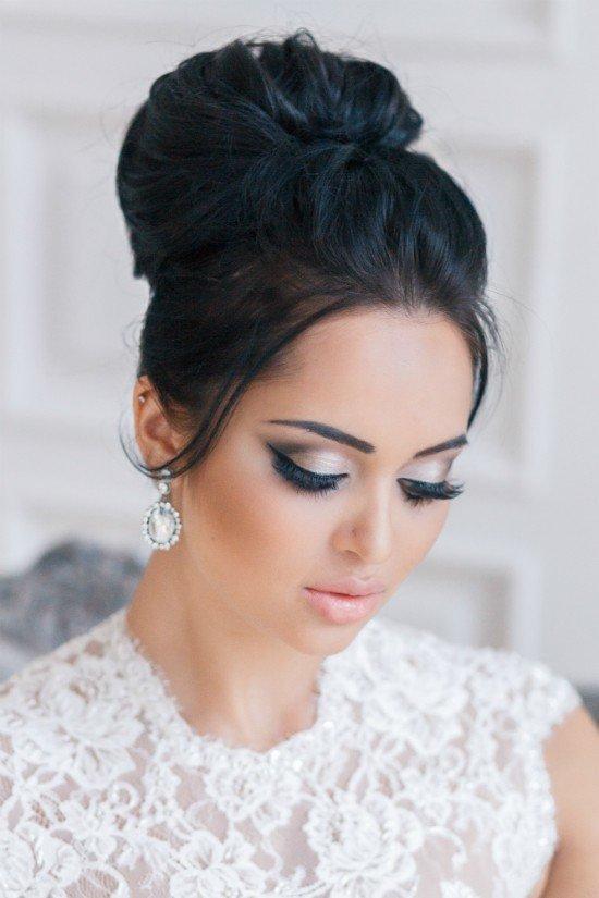 Свадебный макияж для невесты-брюнетки