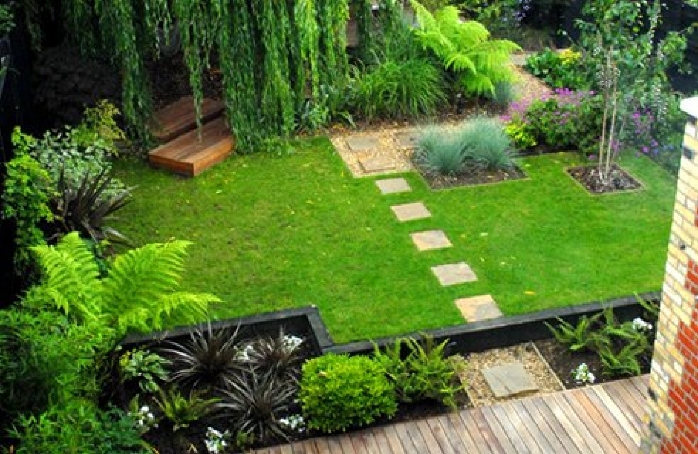 Etonnant Grass Garden Design Home Decor Color Trends Classy Simple With Grass ...