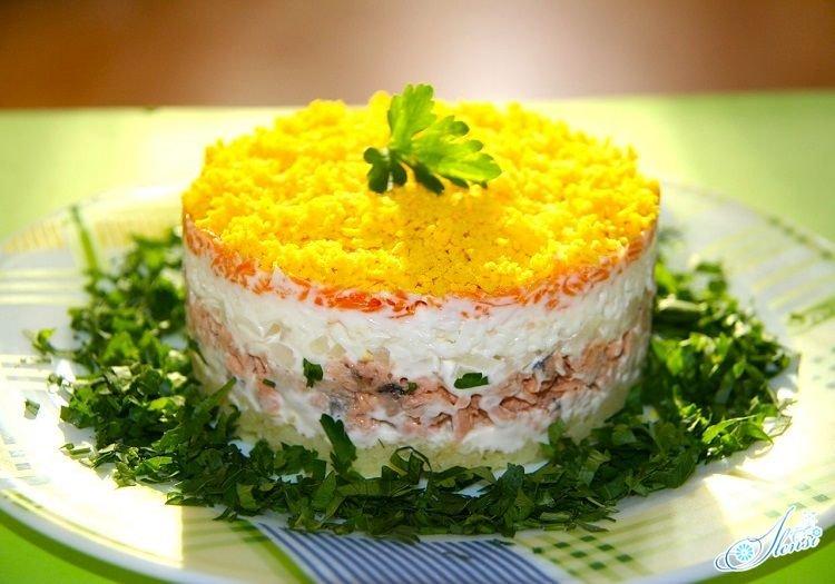 Салат фото мимоза готовим ру
