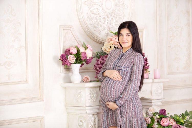 Фотосессия в вязаном платье
