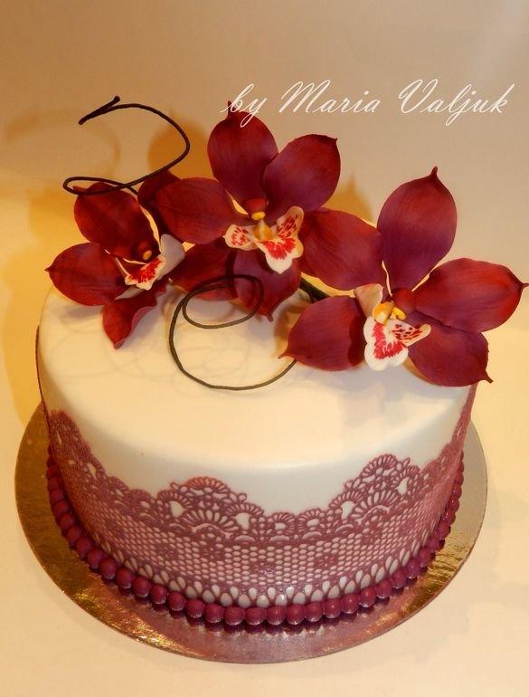 Торты с орхидеями фото