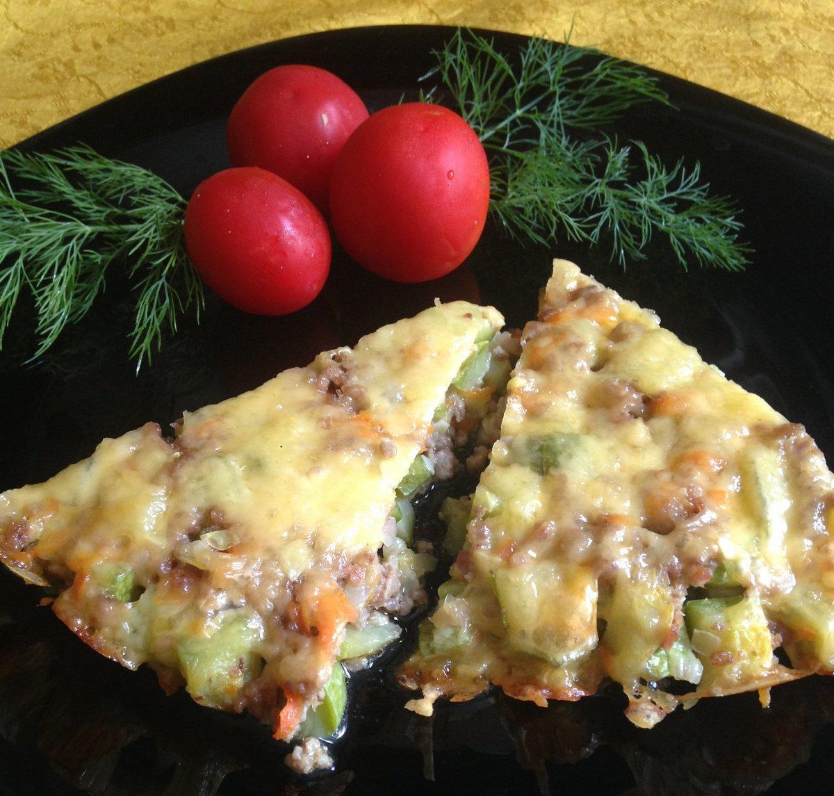 чаще запеканка кабачковая с помидорами и сыром красивые