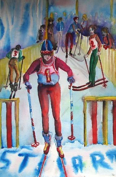 Детские рисунки на спортивную тему - Этот удивительный мир...