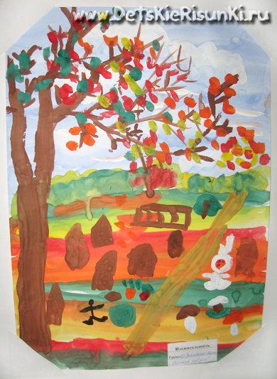 Детские Рисунки: Осенний пейзаж