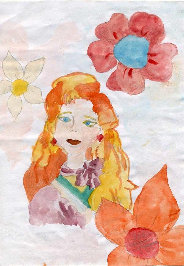 Детские рисунок гуашью