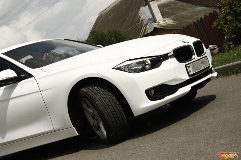 Галерея - Категория: Оклейка в белый матовый оттенок BMW 3 f30 | Тонировкин бай - оклейка автомобилей пленкой
