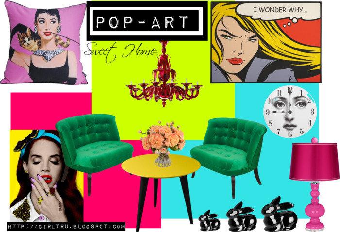 Интерьер в стиле поп-арт: 5 особенностей