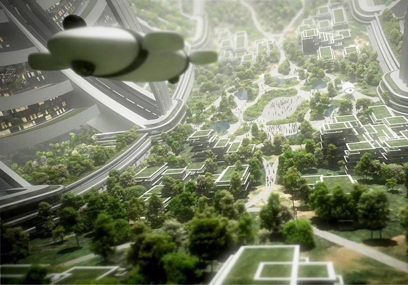 Как видят города будущего в космосе
